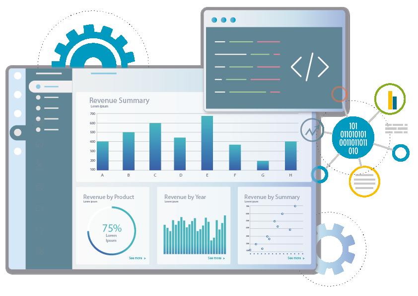 Interactive Business Intelligence Dashboard - Revenue Summary Dashboard