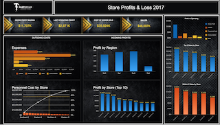 Business Intelligence Dashboard - Profit & Loss Dashboard